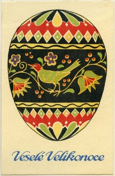 Easter CardPrague, 1918–1925Printing plate, color lithographKI 8876-139© MAK