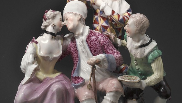 "Figurine group ""The Enamored Old Man"""