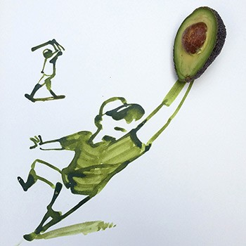 Christoph Niemann, Sunday Sketches Avocado
