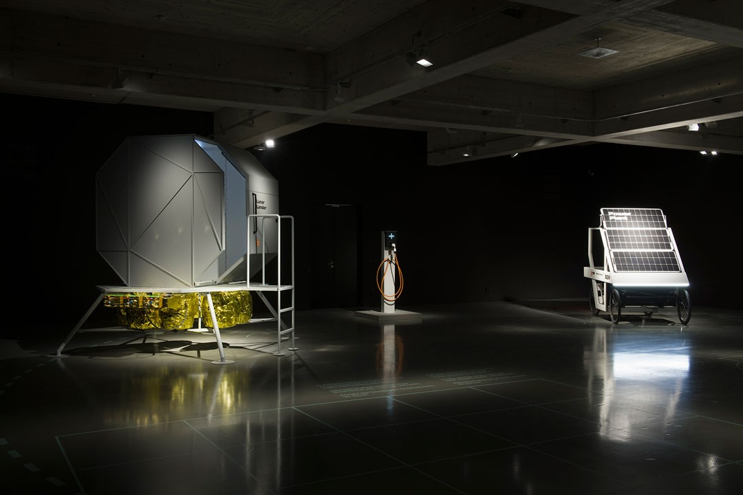 <BODY>Exhibition View<br />CLIMATE CHANGE!<br />From Mass Consumption to a Sustainable Quality Society<br />from left to right: EOOS, Lunar Lander, 2018; EOOS, Citizen Socket, 2019; EOOS, SOV, 2019<br />MAK DESIGN LAB<br />© Stefan Lux/MAK<br /></BODY>