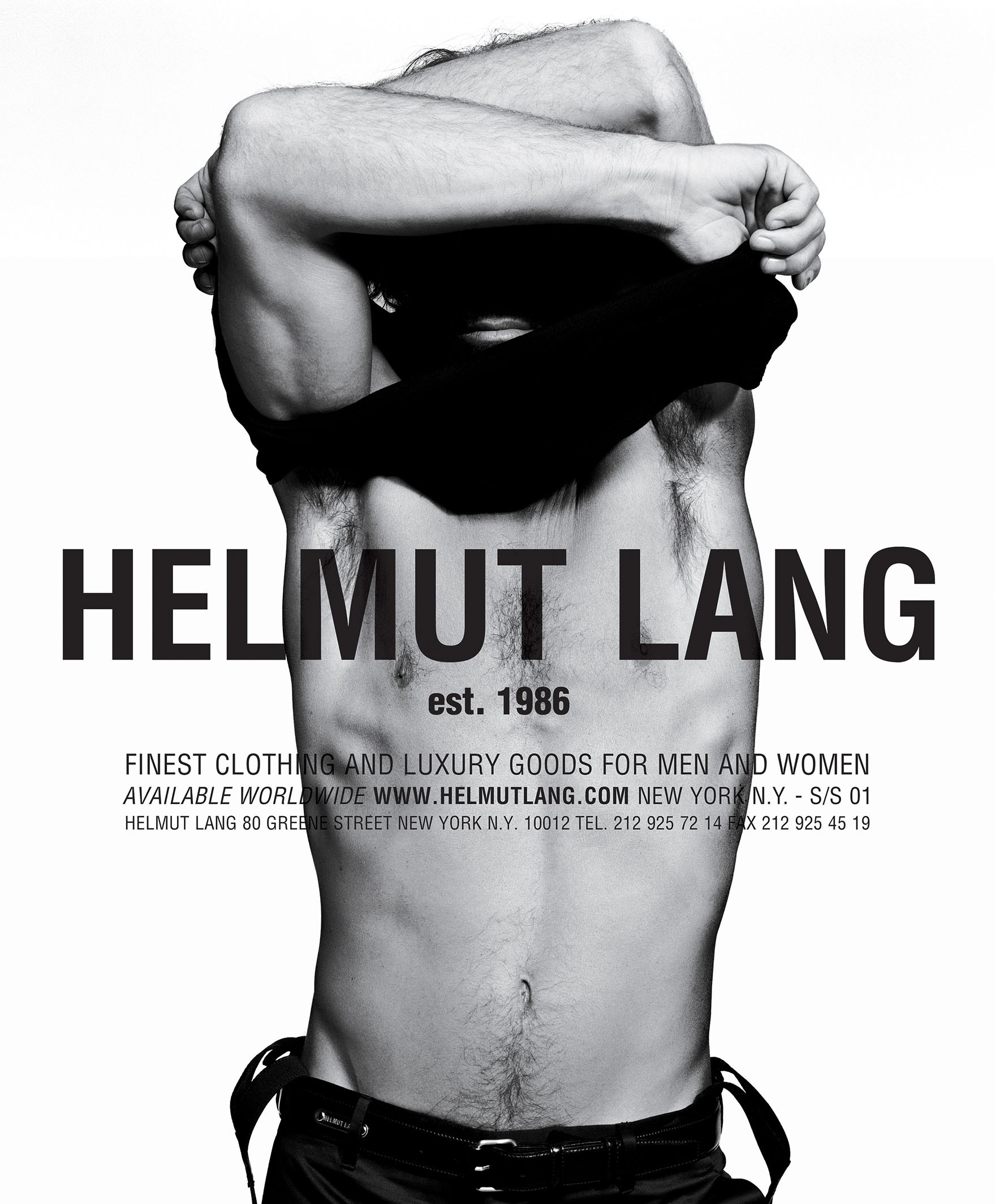 <BODY>Helmut Lang, SS 01 Advertisement<br />© Inez and Vinoodh</BODY>