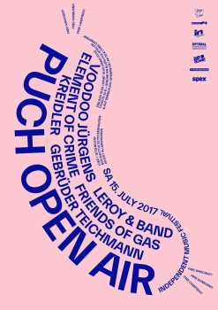 PUCH Open Air 2017, Grafik: Nolan Paparelli zusammen mit Tom Ising von Herburg Weiland (Art Direction)