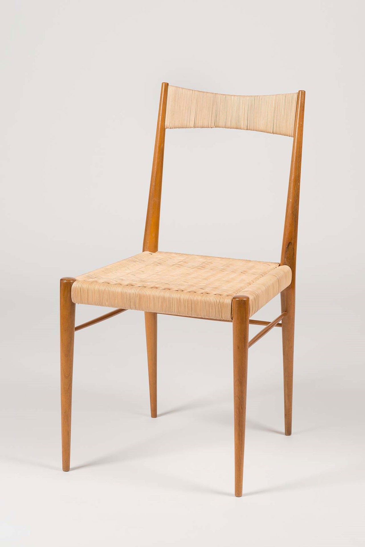 <BODY>Anna-Lülja Praun, Chair <em>F.L.P.</em>, Vienna, 1955<br />Wood, painted; wicker<br />© MAK/Nathan Murrell</BODY>
