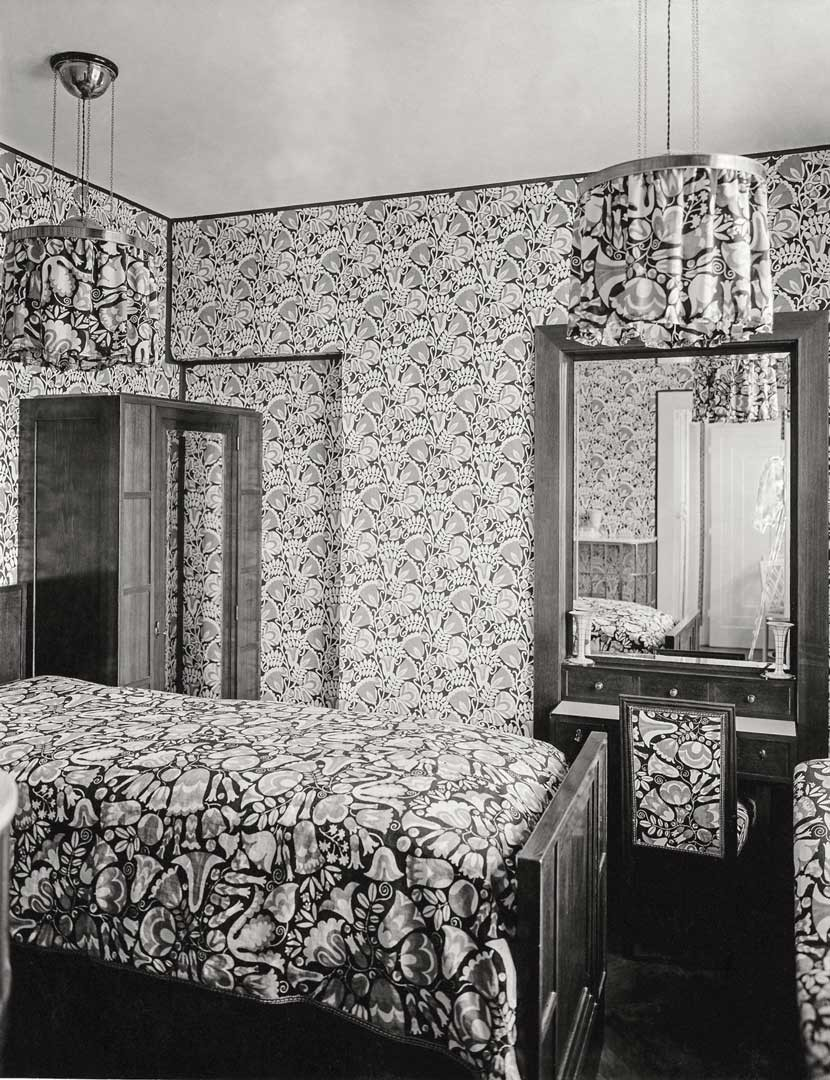 <BODY>Otto Prutscher, Sample room with lamps, wallpapers, and fabrics by the Wiener Werkstätte, ca. 1910<br />© Archivio Famiglia Otto Prutscher, Milan</BODY>