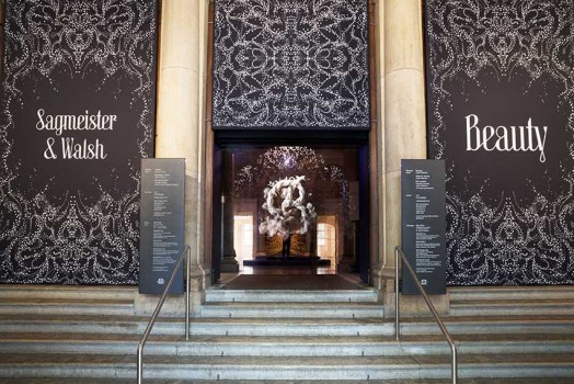 MAK Exhibition View, 2018SAGMEISTER & WALSH: BeautySagmeister & Walsh, Fog Screen, 2018The installation was produced in cooperation with the ERSTE StiftungMAK Columned Main Hall© Aslan Kudrnofsky/MAK