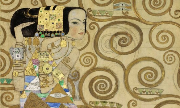 Gustav Klimt, Cartoon Expectation for the mosaic frieze in the Stoclet House, 1910/1911