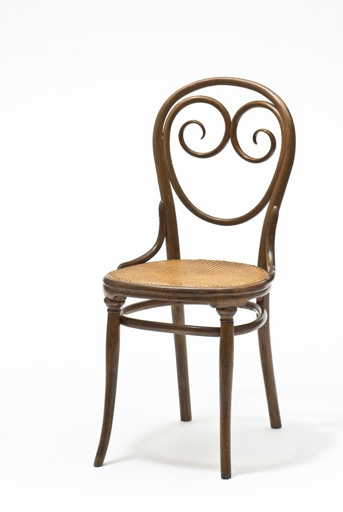 <BODY><div>Chair No. 2, Design: Michael Thonet, Wien Vienna, ca. 1850</div><div>Execution: Gebrüder Thonet, Koritschan Korycˇany, after 1875; Beech, solid bent, cane; MAK H 2174/1969; Donation Federal Chamber of Commerce</div></BODY>