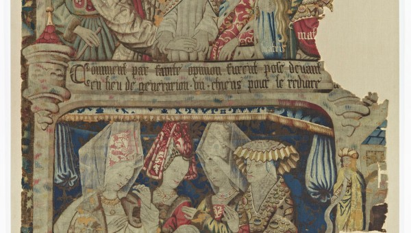 TAPESTRY WITH MOTIFS FROM THE LEGEND OF THE KNIGHT OF THE SWAN