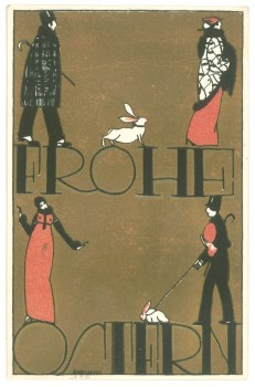 "Postcard No. 793 ""Frohe Ostern"" [Happy Easter]Design: Arnold Nechansky, Vienna, 1912LithographKI 8873-180© MAK"