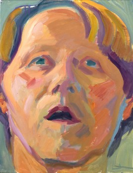 Maria Lassnig, Selbstportrait als Blondine [Self-Portrait as a Blonde]