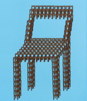 Thomas Bayrle, Feierabend  [Chair Up!] 1970