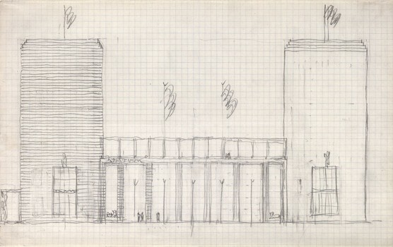 Josef Hoffmann,Study for the propylaea