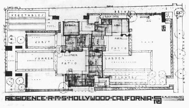 PLan Schindler House