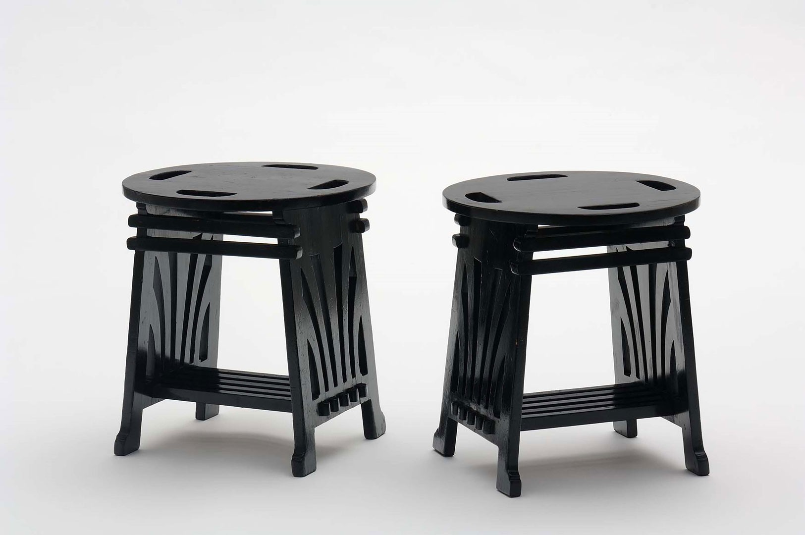 <BODY>Josef Hoffmann, Two stools from Koloman Moser's studio furniture, 1898<br />© MAK/Georg Mayer<br /><br /></BODY>