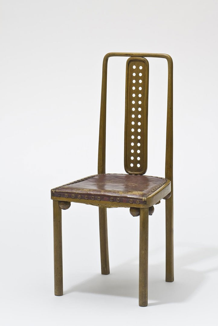 <BODY><div>Josef Hoffmann, Chair from the dining hall of Sanatorium Westend, Purkersdorf, J. & J. Kohn, wood, leather, 1904</div><div>© MAK/Georg Mayer</div><div> </div></BODY>