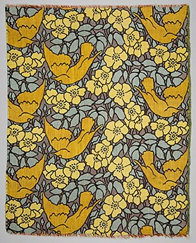 Koloman Moser, Decorative fabric: Wild Roses