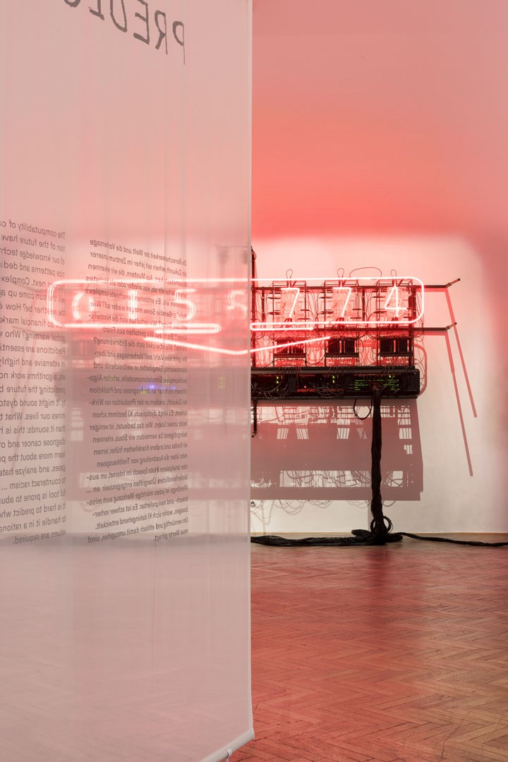 <BODY>Ausstellungsansicht<br />UNCANNY VALUES. Künstliche Intelligenz & Du<br />Rachel Ara, This Much I'm Worth (The self-evaluating artwork), 2017<br />MAK-Ausstellungshalle<br />© Aslan Kudrnofsky/MAK<br /></BODY>