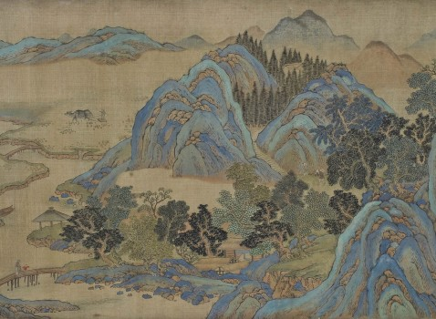 Fan K'uan Chung Li, Flusslandschaft mit Bergen [River Landscape with Mountains]Kangxi period (1662–1722)Picture scrollExner Collection© MAK/Georg Mayer