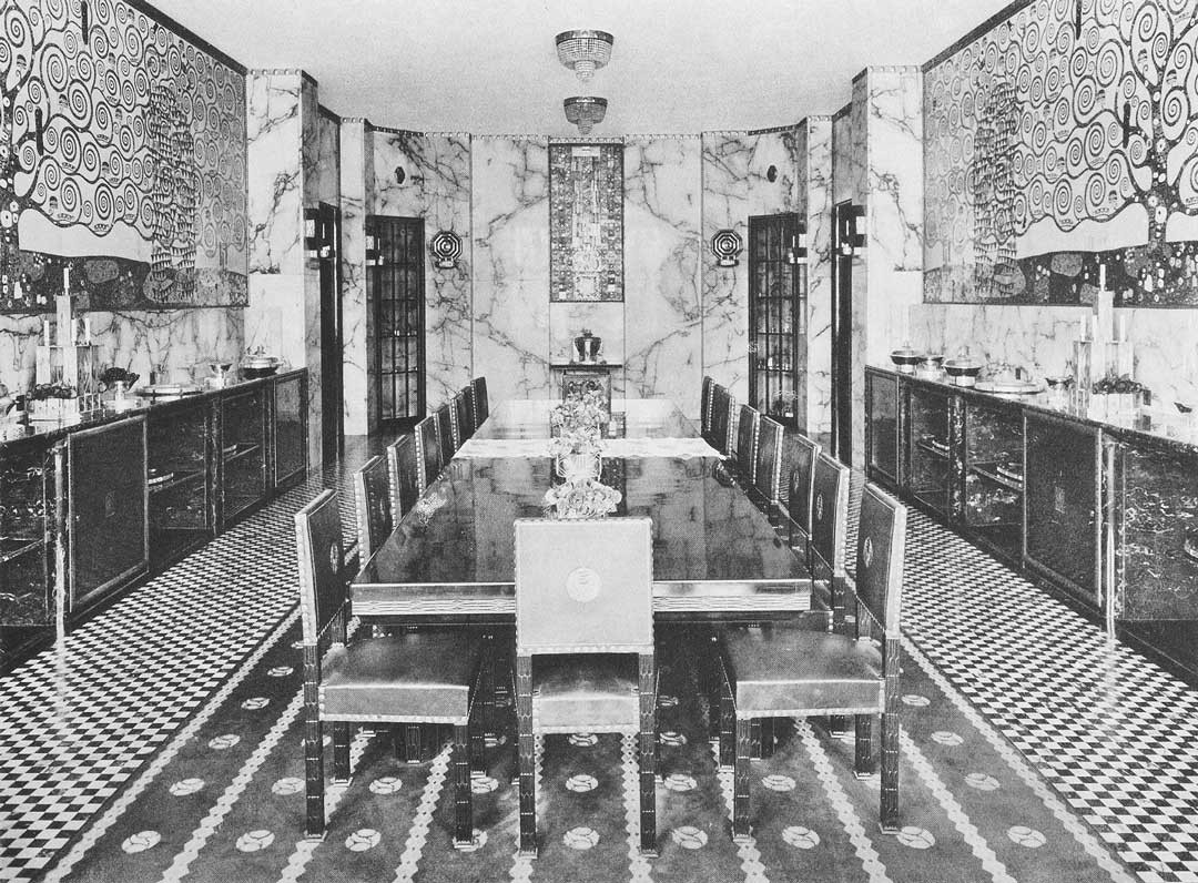 <BODY>Elevations of the dining room with Klimt's frieze, Stoclet House, Brussels, 1914<br />© MAK</BODY>