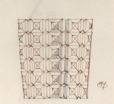Josef Hoffmann, Design for a glass vase