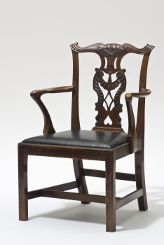 John Sollie Henry, FAUTEUIL IM CHIPPENDALE-STIL