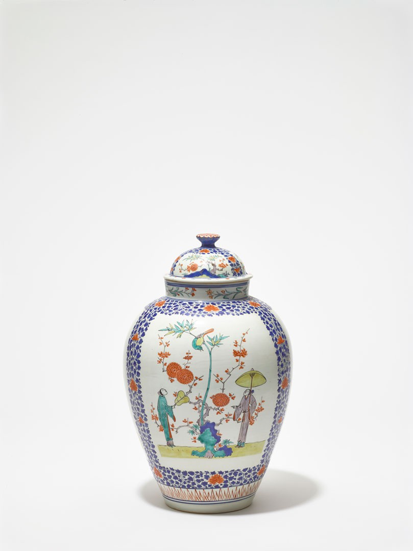 <BODY><div>Covered jar, Japan, Arita, Edo period (1603–1867), ca. 1670–1690</div><div>Porcelain with painting in enamel colors on the glaze, Kakiemon style</div><div>© MAK/Georg Mayer</div><div> </div></BODY>
